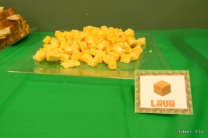 Cheese cubes for Lava