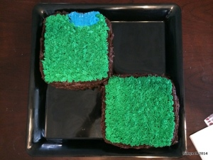 Minecraft Cakes, top view