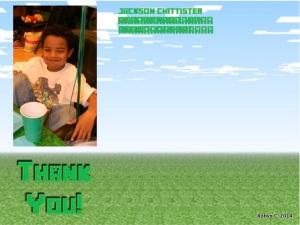 Minecraft Thank You