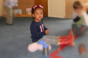 Cassie at Preschool Valentine's Day party