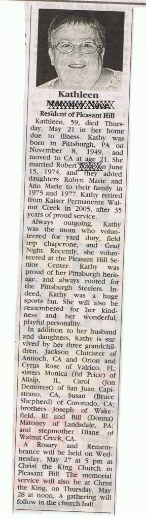 Kathleen M.N. Obituary