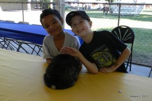 Jackson, his friend,  and Zella
