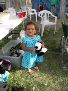 Cassie with a panda bear