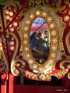 Cassie's first carousel ride