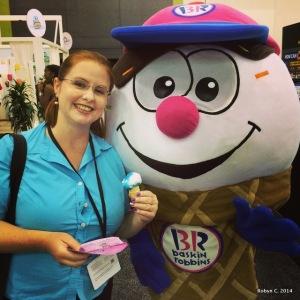 Robyn and the Baskin Robbins mascot