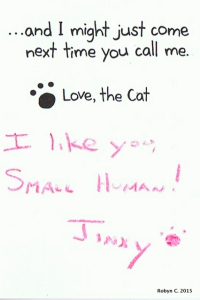 Jinxy sent Jackson a Valentine's Day card