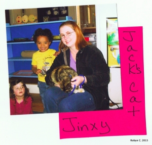 May 2010: Jinxy goes to school