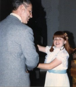 Robyn dances with her Dad at a wedding (1986)