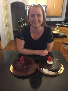 Robyn and two cakes