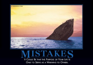 Mistakes Demotivator
