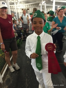 Jackson won second place in Showmanship