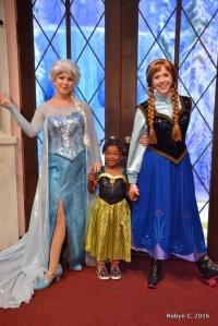 Meeting Elsa and Anna at Disney
