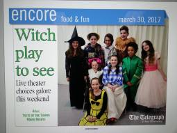 Witch play to see - The Wizard of Oz on the Encore front page